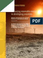 Financing Renewable Energy in sub Saharan Africa