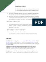 Características de los ácidos