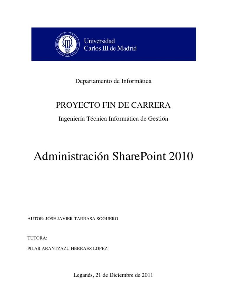 Administracion SharePoint 2010