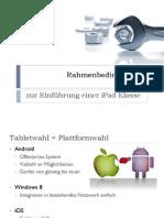Rahmenbedingungen iPad