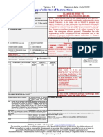 Shipper's Letter Instruction Template 2012