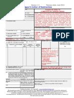 Shipper's Letter Instruction Template 2012