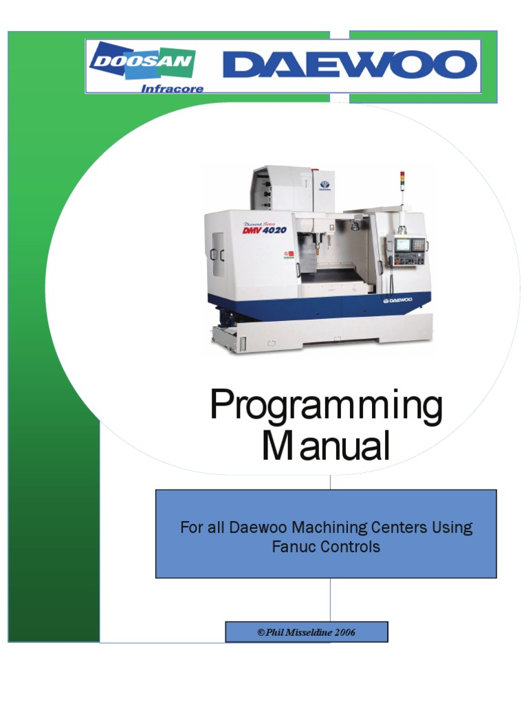 CNC Machining Center Programming Manual | Drill | Drilling