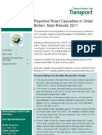 Reported Road Casualties in Great Britain Main Results 2011