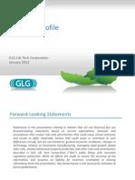 GLG Company Profile-2012 January New