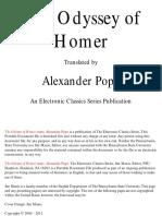 Homer's Odyssey trans. Pope