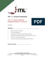 Test Blanc ITIL V3 Officiel