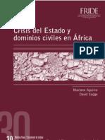 CRISIS DEL ESTADO Y DOMINIOS CIVILES EN ÁFRICA