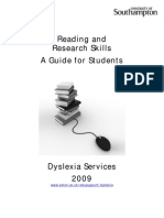 Reading and Research Skills 2009