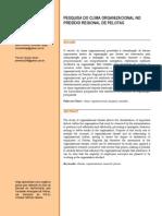 PESQUISA DO CLIMA ORGANIZACIONAL DO PRESÍDIO REGIONAL DE PELOTAS