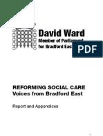 Reforming Social Care - Report