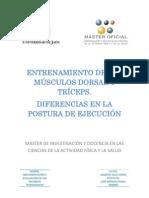ENTRENAMIENTO DE LOS MÚSCULOS DORSAL Y TRÍCEPS