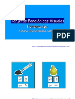 Tarjetas Fonologicas Visuales p