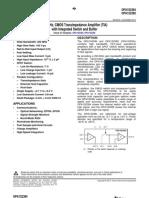 OPA1S2385IDRCR Texas Instruments Datasheet 13029916