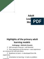 Adult Learning Models