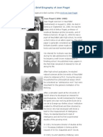 A Brief Biography of Jean Piaget