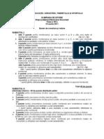 2011 Istorie Etapa Judeteana Barem Clasa a XII-A 0