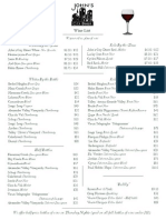 John's City Diner Winelist