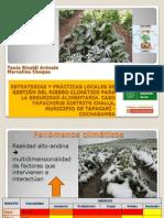 Estrategias y Prácticas Locales de Gestión de Riesgo Climático para la Seguridad y Soberanía Alimentaria