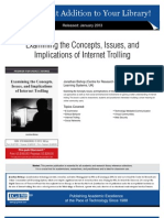 Examining the Concepts, Issues and Implications of Internet Trolling