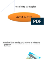 Problem Solving Strategies-Act It Out