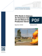 Fracking Air Pollution EPA Monitoring