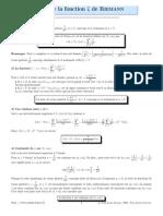 Fon Ction Zeta de Riemann