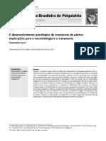 O desenvolvimento psicológico do transtorno do pânico -Fiammetta Cosci