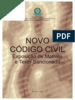 Codigo Civil - Exposições de Motivos e Textos Sancionados