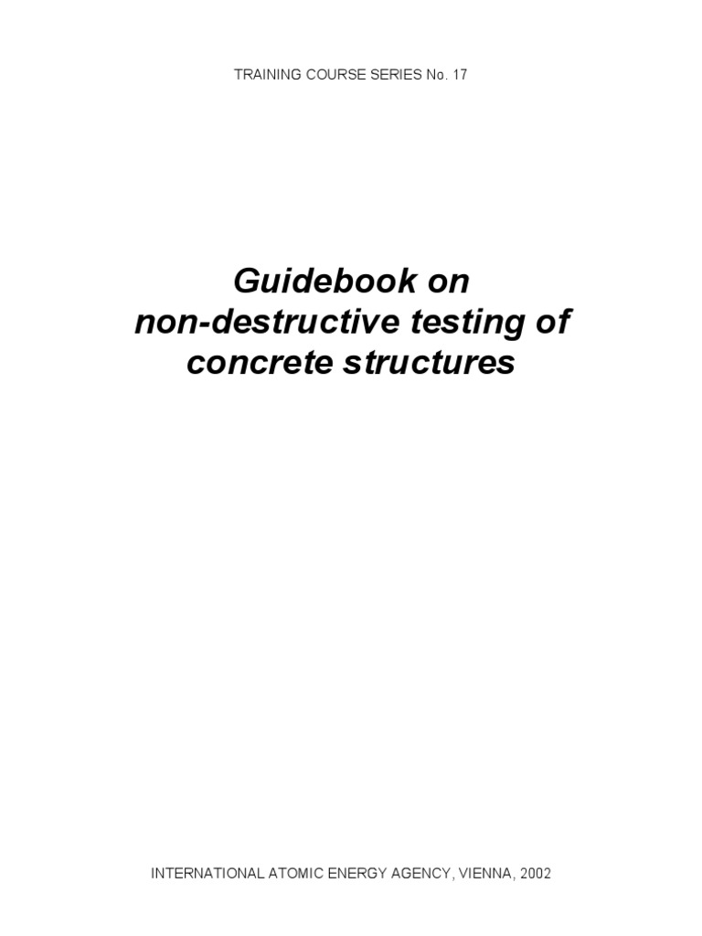 Guidebook On Non Destructive Testing | Concrete | Nondestructive Testing
