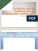 60863795-Tutorial-Aplicacion-normas-APA-en-word-Office-2007-Julio-2011.pptx