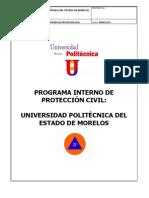 Programa Interno de Proteccion Civil 2011 Univ. Politecnica1