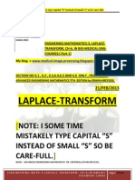 Laplace Transform, Engineering-Mathematics-3 ,Ch-6 in BME in  PDF