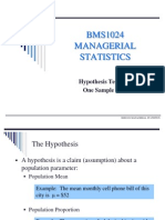 Hypothesis Testing I