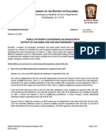 D.C. Fire department statement on ambulance 'bill'