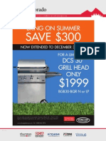 Save $300 for a limited time, DCS grill head only $1999