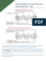 Conexión de transformadores de medida para media tensión