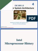 Intel Microprocessor History