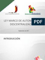Ley Marco de Autonomias