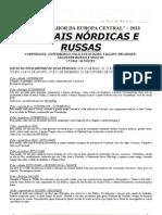 TCHAYKA - Capitais Nórdicas e Russas 2013 - Folheto