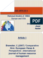 National Models of  HRM