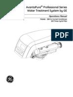 3001324 Rev F AvantaPure Logix 268 Owners Manual 3-31-09