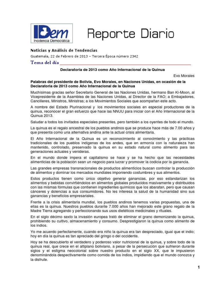 Reporte Diario 2342