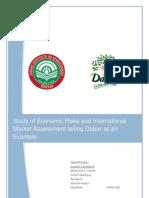 Study of Economic Risks and International Market Assessment