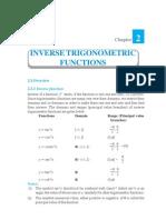 Inverse Trignometric Functions