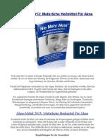Akne-Mittel 2013 Matürliche Heilmittel Für Akne