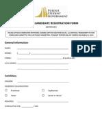 Senate Registration Form