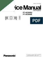 PANASONIC PT-AE3000 SERVICE MANUAL
