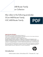 HP MSR Configuration and Installation Document Collection