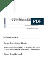 Lección V. Metodología PGIRS